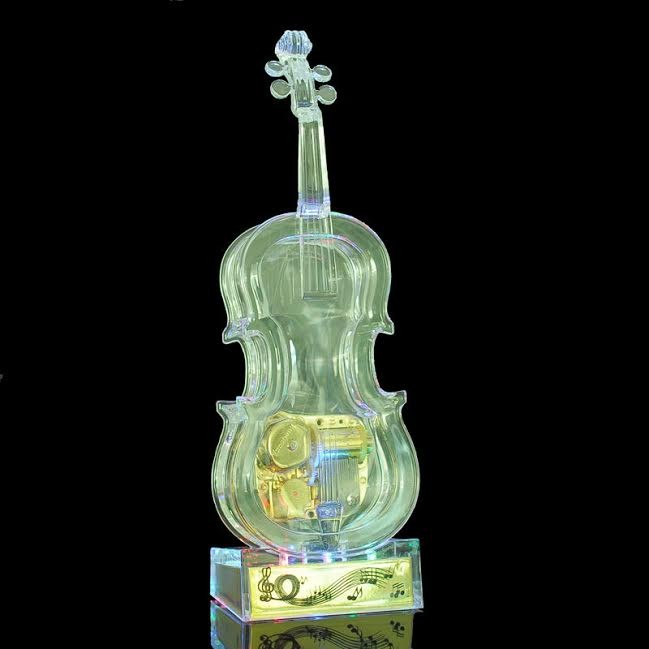 Acrylic Music Box Violin