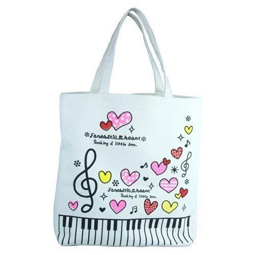 Music Tote Bag Hearts
