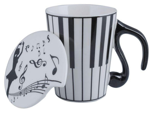 Tall Music Mug w Lid Piano