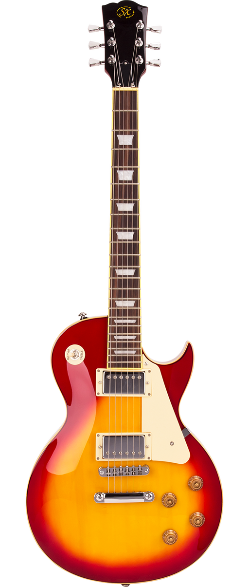 SX Les Paul Electric Guitar Bundle Cherry Sunburst