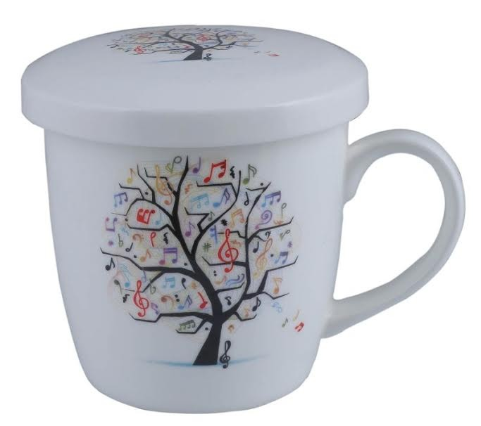 Music Mug with Lid Music Tree