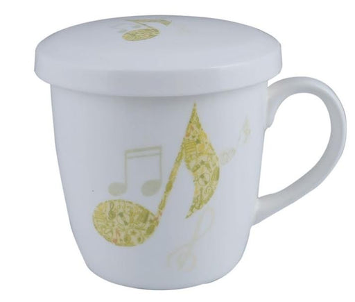 Music Mug with Lid Lime Quaver