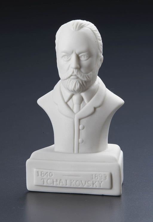 Peter Ilyich Tchaikovsky Statuette White Porcelain