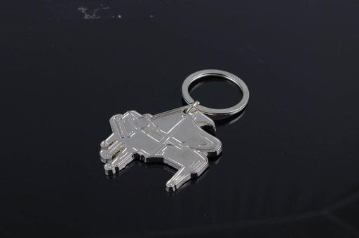 Piano Shaped Metal Key Ring