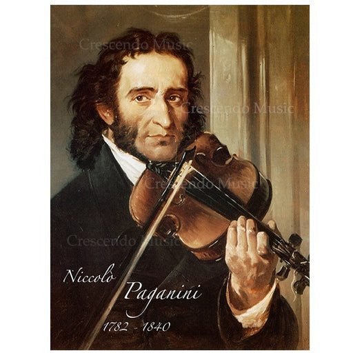 Niccolò Paganini Canvas Portrait w Gold Frame