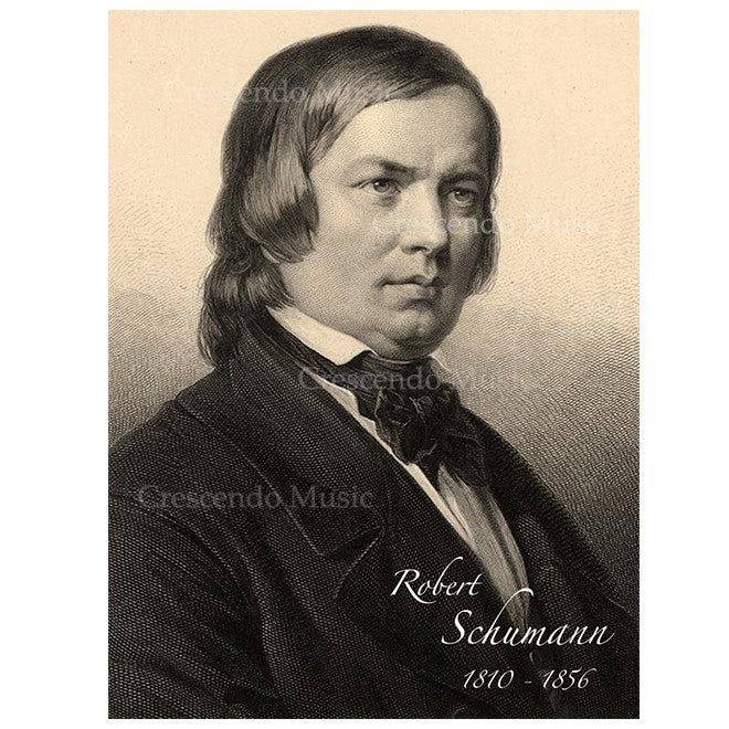 Robert Schumann Canvas Portrait w Gold Frame