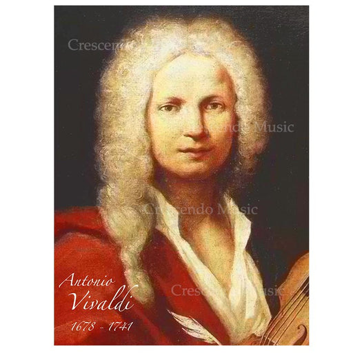 Antonio Lucio Vivaldi Canvas Portrait w Gold Frame