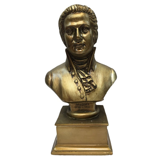 Wolfgang Amadeus Mozart Composer Bust Statue (L)