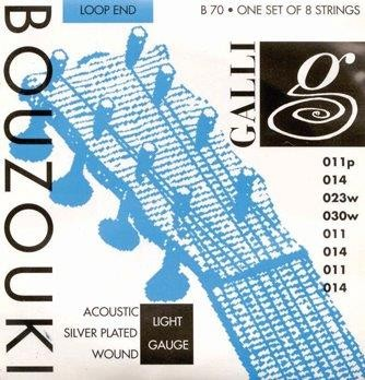 Galli Acoustic Silver Plated Wound Bouzouki String Set