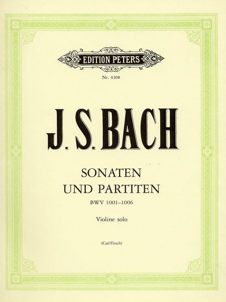 Bach J S Sonatas & Partitas Peters edition by