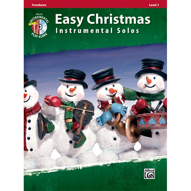 Easy Christmas Instrumental Solos Trombone Bk/CD