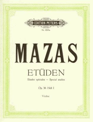 Mazas Studies Op 36 Book 1 Peters edtion by