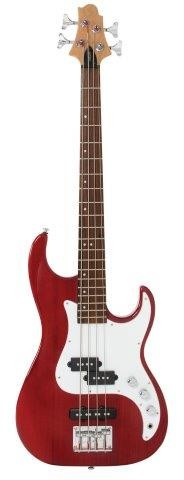 Greg Bennett Design Corsair Short Scale Bass - Transparent Red