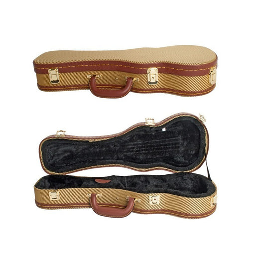 Ukulele Case Concert Size Brown Tweed