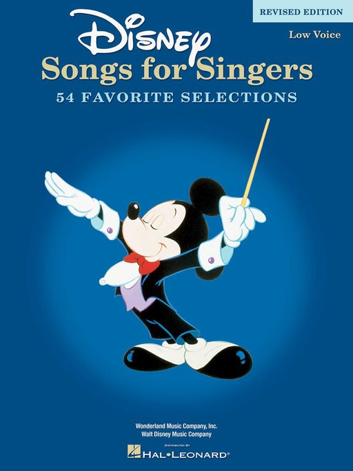 Disney Songs for Singers Low Voice