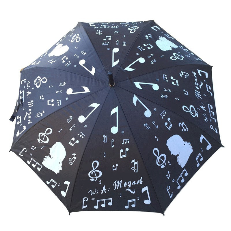 Music Themed Large Umbrella Silver