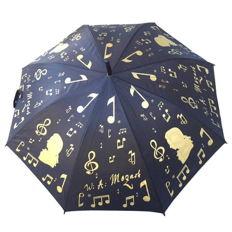 Music Themed Large Umbrella Gold