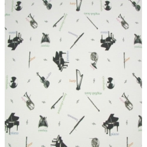 Wrapping Paper - Musical Instruments