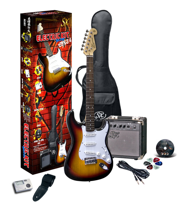 SX 3/4 Size Electric Guitar and Amp Package