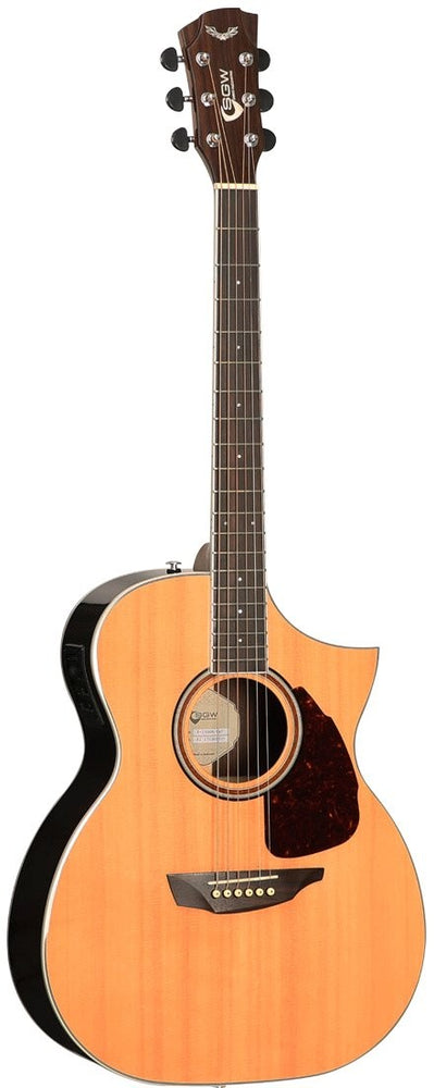 Samick Electric/Acoustic Guitar Orchestra Cutaway S550OM