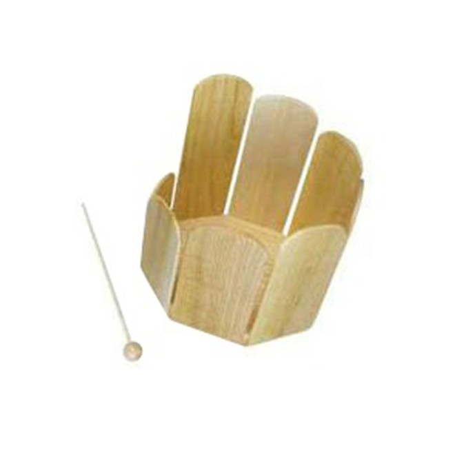Mano Percussion Octagonal Wooden Stirring Drum w/ Beater