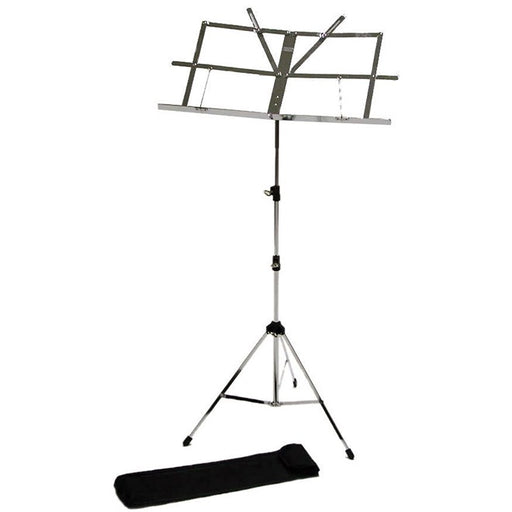Music Stand Chrome Silver with Bag