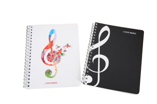 Music Themed Spiral Notebook