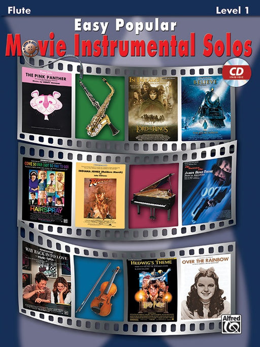 Easy Popular Movie Instrumental Solos Flute Book / CD