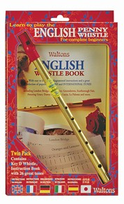 Waltons English Penny Whistle in D & Book Pack