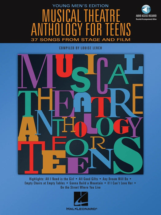 Musical Theatre Anthology for Teens Young Men's Edition with Online Audio
