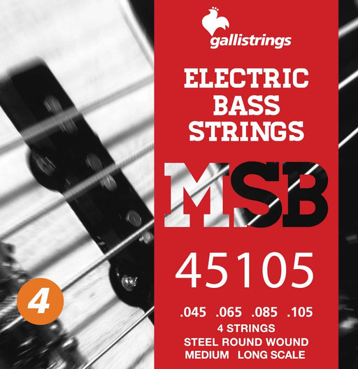 Galli Steel Round Wound 4 String Bass Set