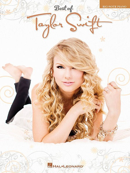 Best of Taylor Swift in Big Note Piano by