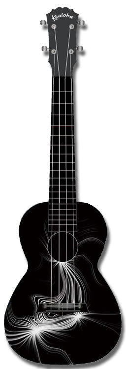 Kealoha Concert Ukulele Black and White Effect
