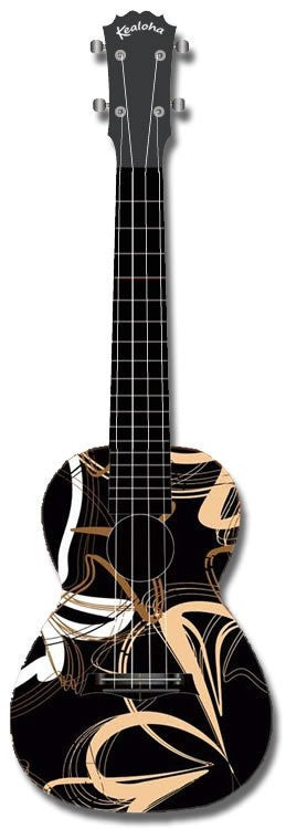 Kealoha Concert Ukulele Abstract Pattern