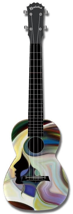 Kealoha Concert Ukulele Abstract Face