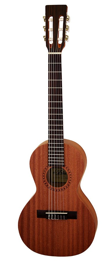 Aria ASA Series Nylon String Travel Guitar In Natural Satin