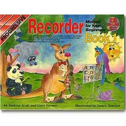 Progressive Recorder Method for Young Beginners Book 1 CD/DVD by