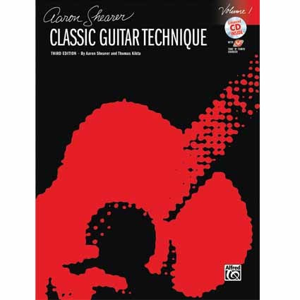 Classical Guitar Technique Book 1 Aaron Shearer with CD by