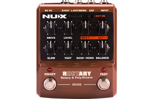 NUX Roctary Leslie Simulator & Polyphonic Octave Effects