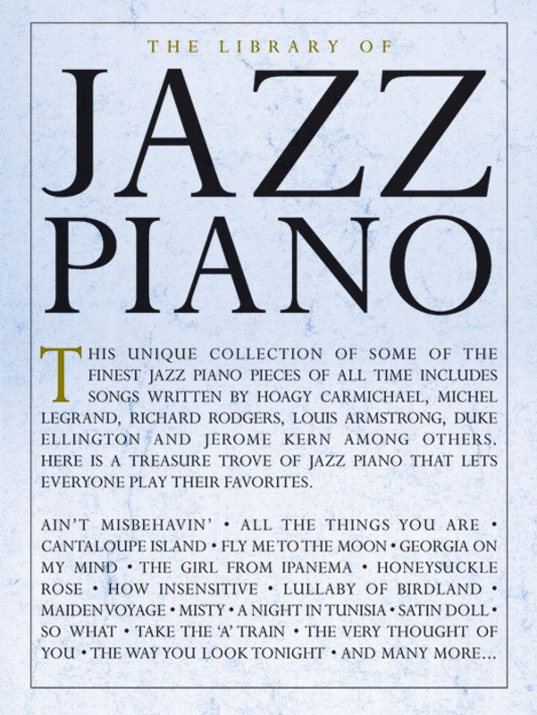 The Library of Jazz Piano - Piano Solo