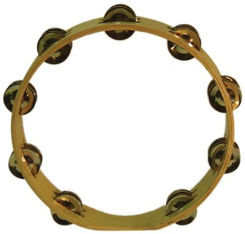 10 Inch Headless Tambourine with 18 Pairs of Jingles