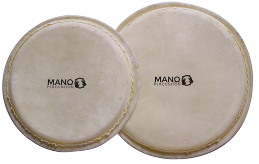 4 & 5 inch Bongo Head Set Natural Hide