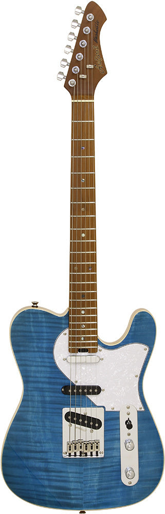 Aria 615-MK2 Nashville Electric Guitar in Turquoise Blue
