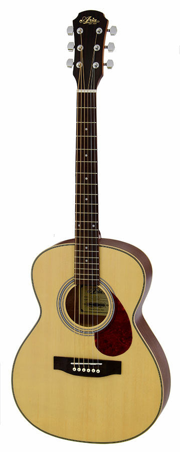 Aria Travel Guitar Spruce Top Steel String Guitar