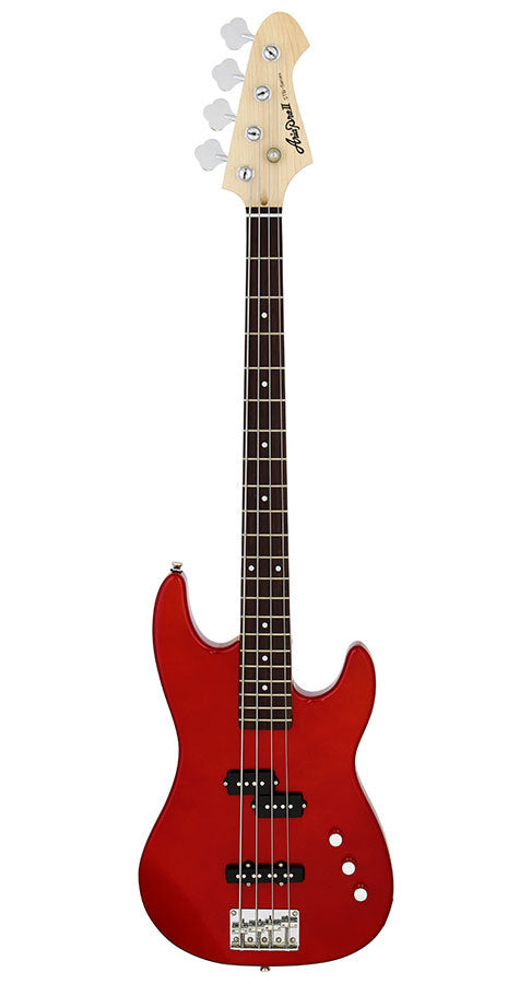 Aria STB PJ Series Electric Bass Guitar in Candy Apple Red