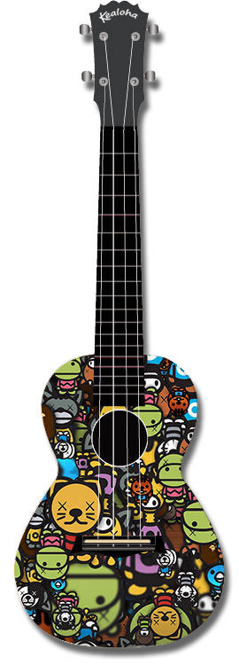 Kealoha Concert Ukulele Cartoon Face