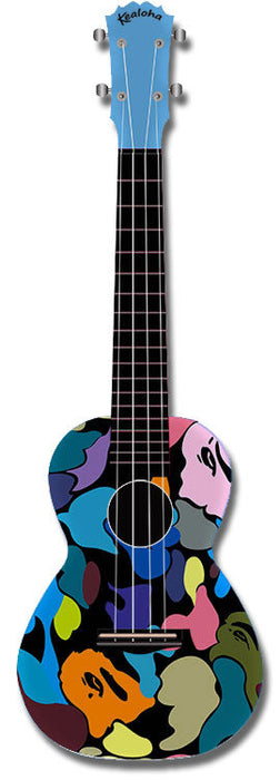 Kealoha Concert Ukulele Abstract Painting