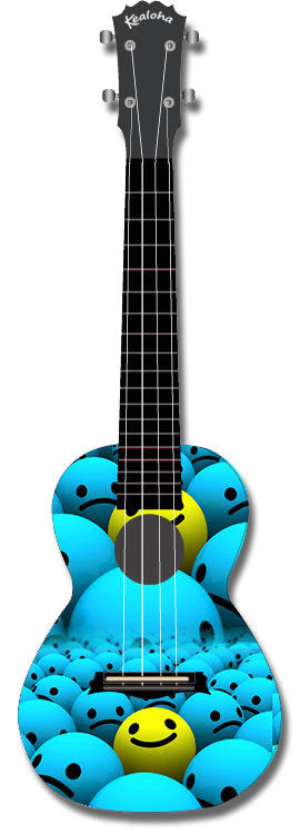 Kealoha Concert Ukulele Smiley Ball