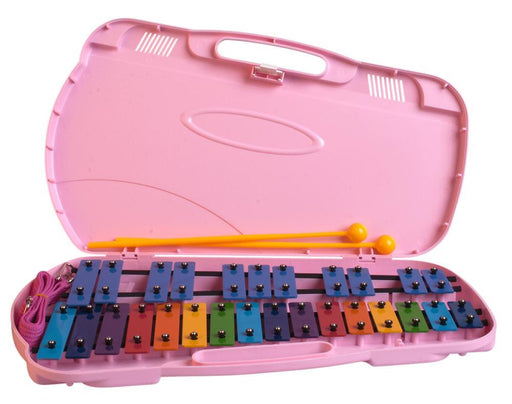 Glockenspiel 27 Note Angel (Coloured Bars with Pink Case)