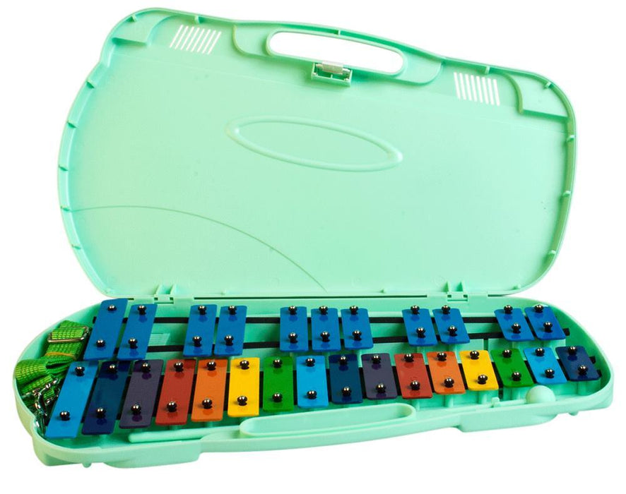 Glockenspiel 27 Note Angel (Coloured Bars with Green Case)